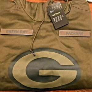 Nike Green Bay Packers Salute To Service Hoodie M